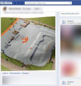 fot. projekt skateparku, opublikowany na facebooku