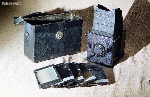 Producent: Curt Bentzin Goerlitz [Zgorzelec] - aparat Romana Wajnikonisa został przekazany do Muzeum Fotograficznego w Krakowie, fot. Stanisław Wajnikonis