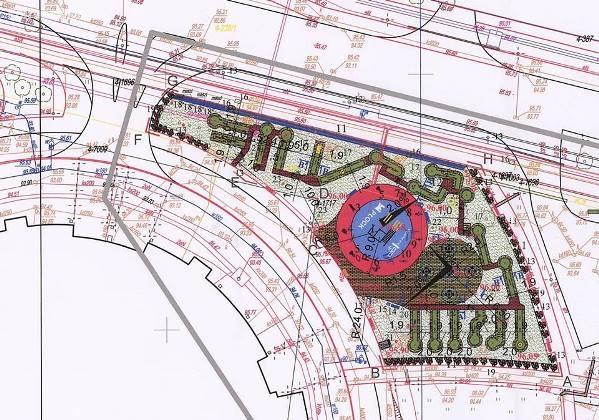Plan zagospodarowania terenu przy Orlen Arenie, źródło: bip.ump.pl